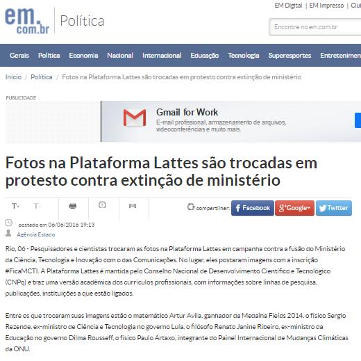 print Estado de Minas
